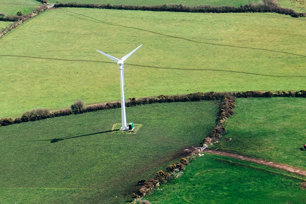 windfarm in fields